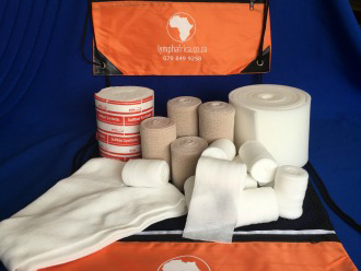 Double lower leg lymphoemdema bandaging kit